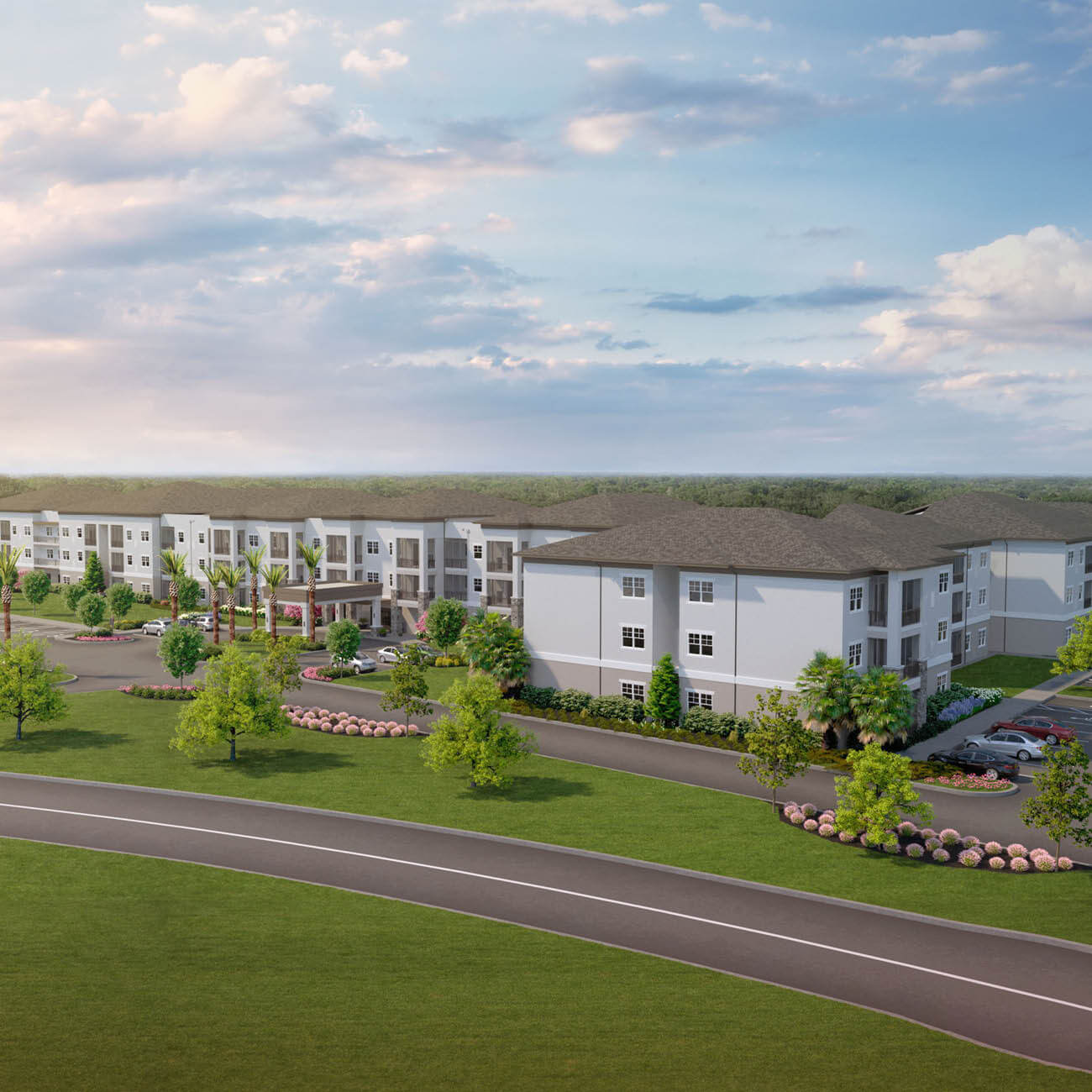 3D aerial rendering of Highpoint at Stonecrest