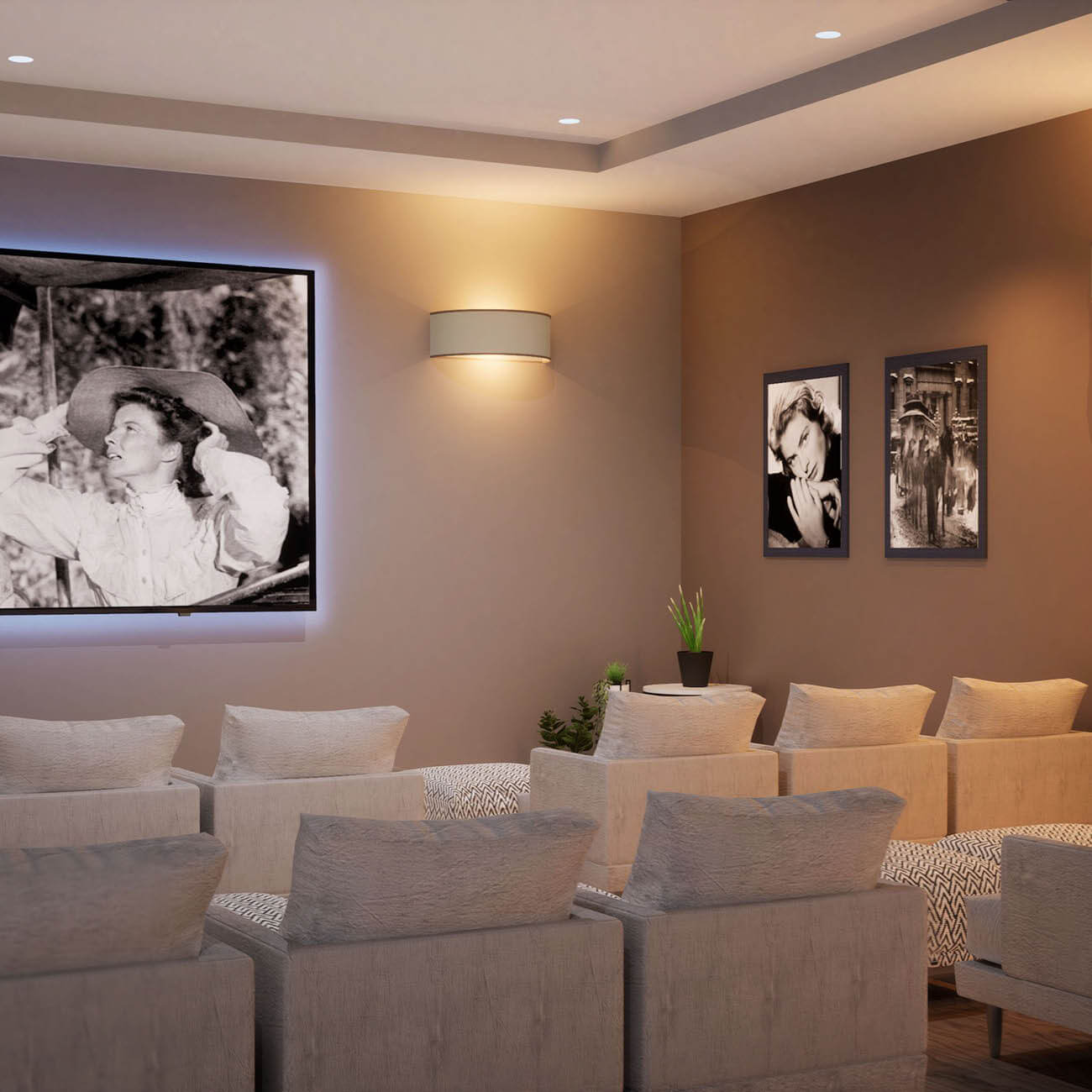 3D rendering of community theater room