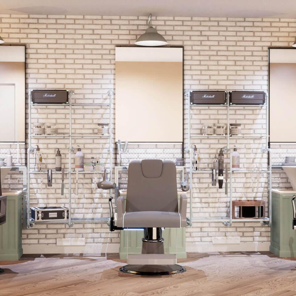 3D rendering of salon