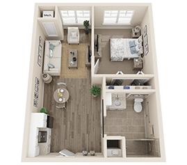 Assisted Living Floor Plan - Jasmine