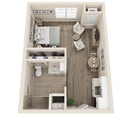 Independent Living Floor Plan - The Oleander