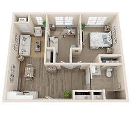 Assisted Living Floor Plan - The Palmetto