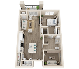 Independent Living Floor Plan - Orchid