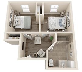 Memory Care Floor Plan - Juniper